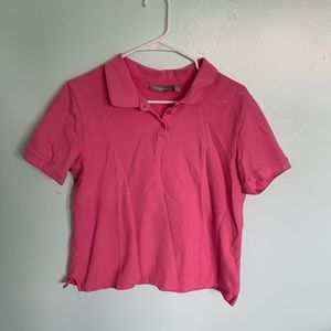 Tops - Thrifted pink polo